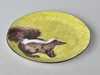 ceramic animal hand painting salad plate