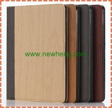 Newest Arrival Mix Color Flip wood grain Leather case For ipad air 2