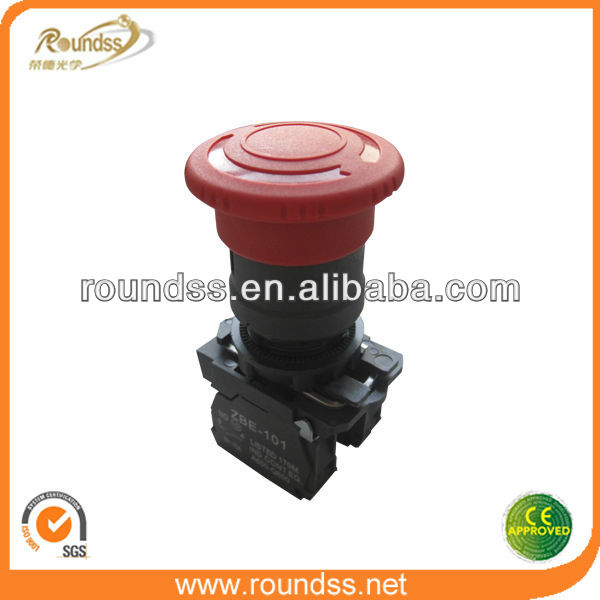 Emergency 40mm Waterproof Stop Pushbutton Switch