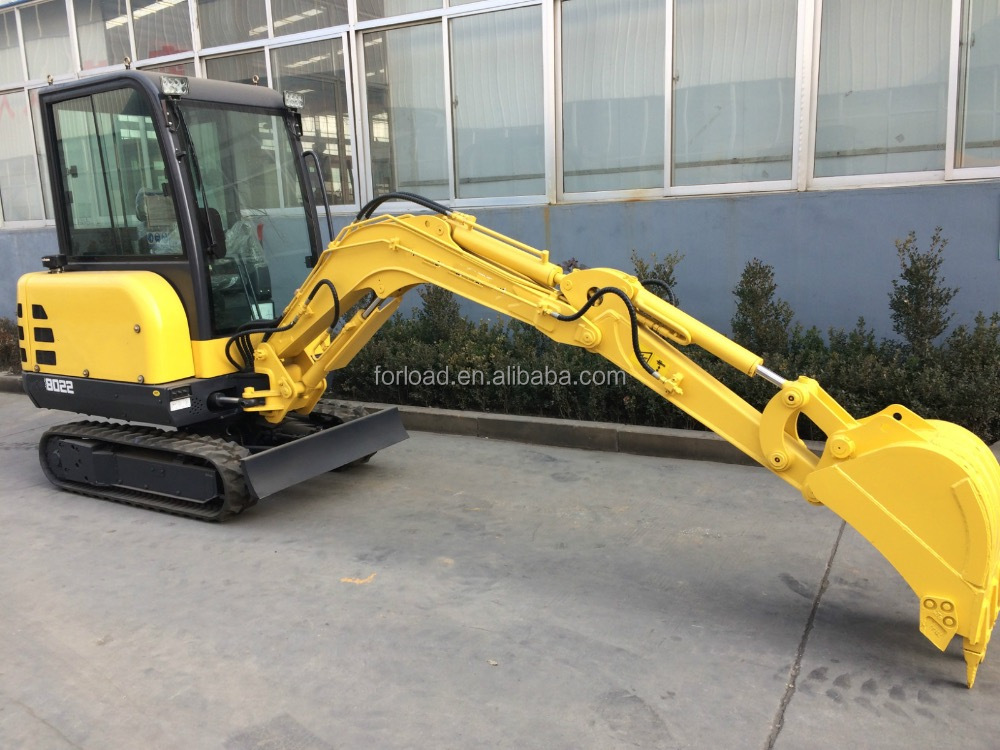 2tons Chinese brand mini crawler excavator with CE certificate rubber track for sale