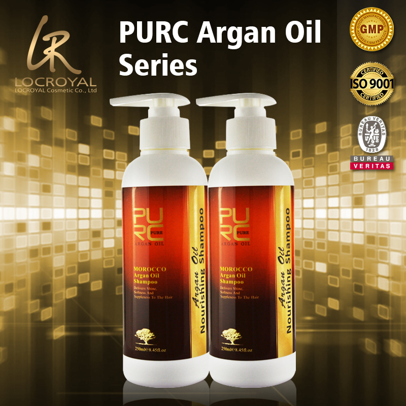 Organic argan oil ingredient shampoo daily keep use fix hair more shiny and natural