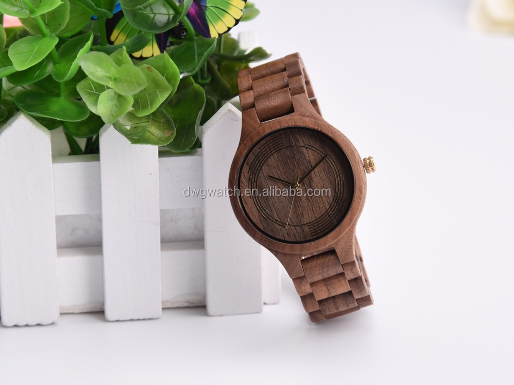 Wood face watch, hand made wood watch