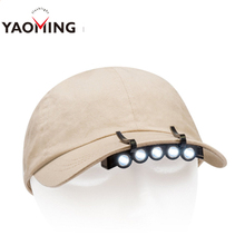 LED Cap Hat Head Light Lamp Torch HeadLamp Flashlight for Outdoor Hiking Hunting Fishing Camping