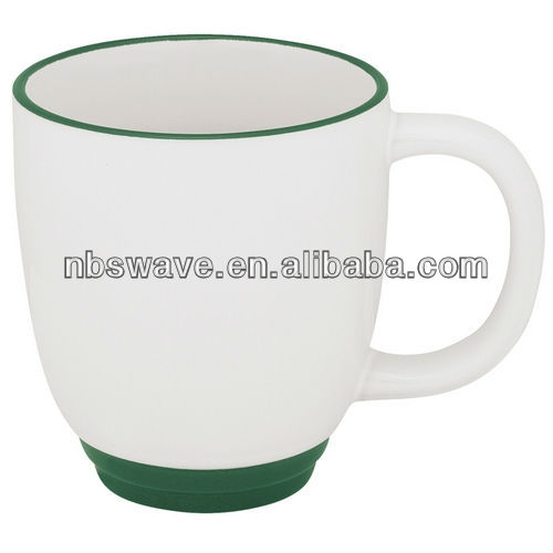 Two-Tone Bistro Coffee Mugs 12 oz 31009