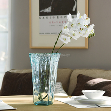 Hot sale mouth-blown tall clear glass vase for home decorative
