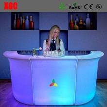 2017 new products UL white light LED Bar Counter belysning borde og stole for furniture seller
