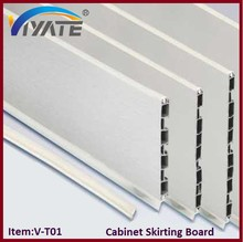 Waterproof cabinet deep PVC 100mm skirting board with silver brush