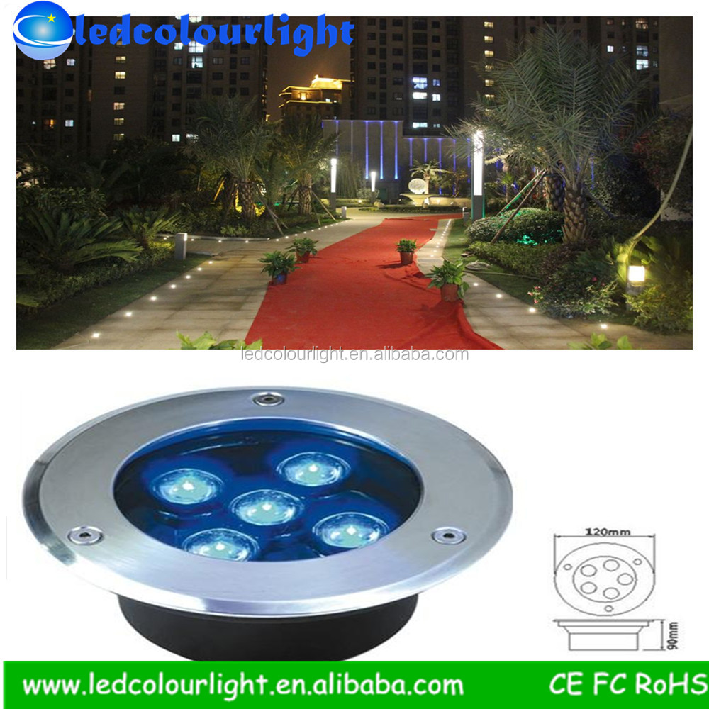 Durable Quality Dc 12v 9*1w Dmx Rgb Underground Light,Can Be Controlled By Rgbcontroller or dmx decoder,underground lamp outdoor