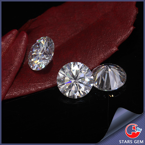 pure white color synthetic diamond round 8mm wholesale china moissanite
