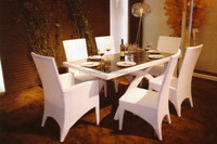 garden furniture outdoor wicker rattan different types of table setting