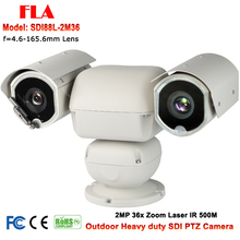 Outdoor Heavy duty IR 500M HD SDI Laser PTZ Camera HD-SDI With x 36 Auto zoom Suitable for Public Vehicle forest grassland