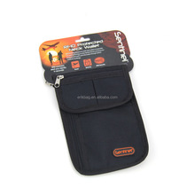 Nylon Travel Passport Neck Pouch Neck wallet