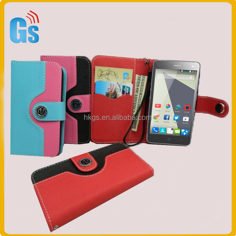 Mix Colors Buttons Style Card Holder Flip Cover For Digicel DL910 Leather Case