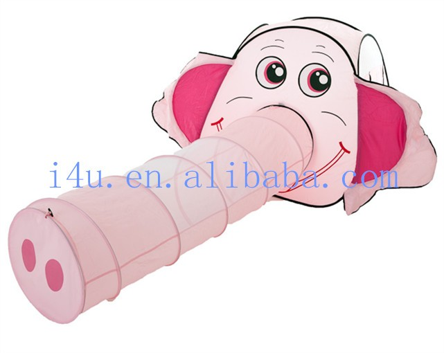 So Cutty Long Nose Pink Pig Animal Toy Tent Tunnel Set for Kids