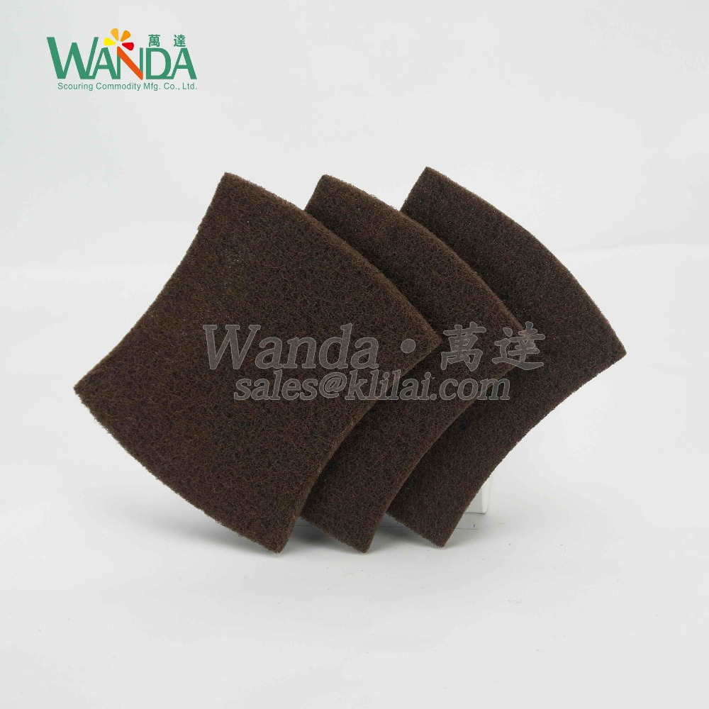 Bow-Tie Shape Abrasive Brown Dish Washing Scouring Pad