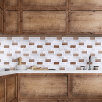 Latest Design Decoration Wall Kitchen Bathroom White Ceramic Mosaic Glass Subway Tile