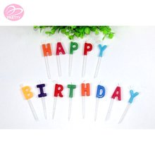 New unique good price letters shape birthday candles