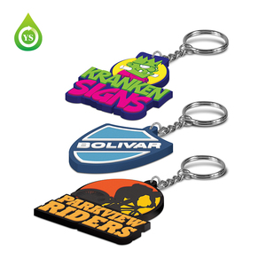 pvc keychain Cheap Gift Print Logo personalised rubber Keyring