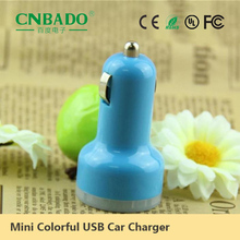 2015 Promotional Polychrome 2.1A Popular LED Double USB Car Charger for ZTE Mobile Phone Charging