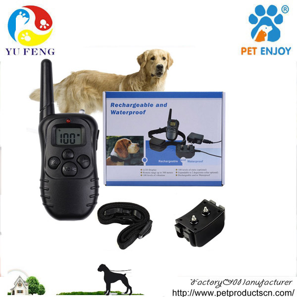 2017 Newest Best 300Meter LCD display waterproof remote dog electronic shock training collar with CE E-998DR