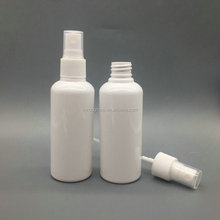 100ml Pharmaceutical PET white plastic fine mist spray bottles, 3.3oz plastic opaque nozzle refillable perfume spray bottle