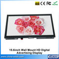 15.6 inch new real 1080p monitor wall mounting lcd screen open frame usb mp4 player SD CF card tv in store video player