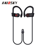 HAISSKY Wireless Sports Earphone Riding Headphone Headset Sport Stereo Ear Hook For iPhone 8 for Xiaomi Mi5
