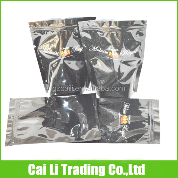 ziplock black color tobacco 1kg stand up pouch