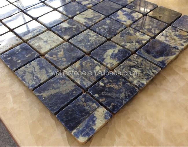 nat rlichen saphir blauen stein marmor mosaik fliesen wand. Black Bedroom Furniture Sets. Home Design Ideas