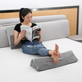 Ultra Soft Grey Firm Support Backrest Anti Stomach Acid Reflux Foam Wedge Pillow Bedding Back Support Pillow