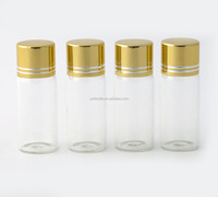 Taobao sale 12ml clear glass essence bottle with gold cap small size glass perfume vials