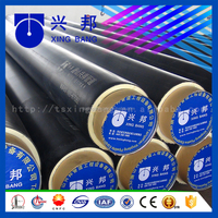 Small diameter hot water pipeline insulated pipe with rigid foam filled and outer casing for plant heat supply