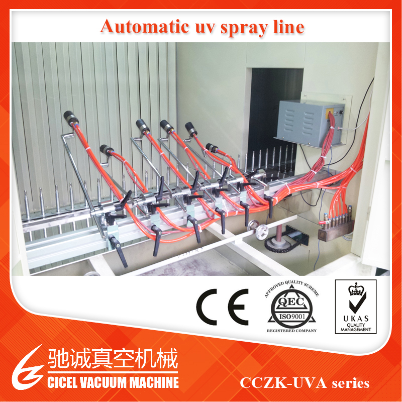 Dustless Automatic Plastic Painting Line Vacum Metallizing Plant/Vacuum Plating Machine