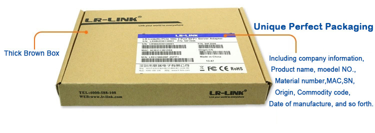 LR-LINK PCIe x8 Dual SFP+ Port 10G Network Card Compatible With Intel X520