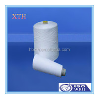 plastic cone 60s 100% Optical white spun polyester textile yarn