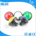 Rounded 100mm Illuminated Waterproof Electrical Push Button Switch