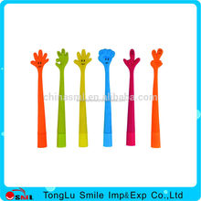 Novelty Stationery Cute Smiling Palm Face Ballpoint Pen Lovely Bendable Ball Pens