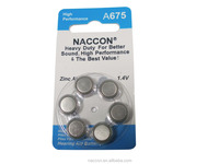 A312 zinc air hearing aid battery 1.4V button cell battery dfs34