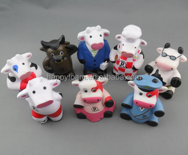 pu promotional cheap gifts cattle custom stress ball toys