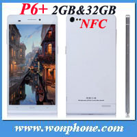 P6+ 1920*1080 FHD screen 32gb rom 13mp MTK6589T 6 inch smartphone