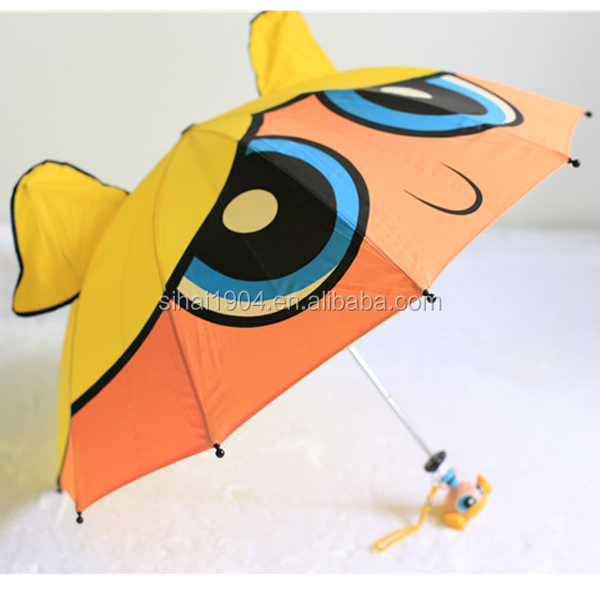 Safe high quality cute printing Kids umbrella in heat transfer printing for market