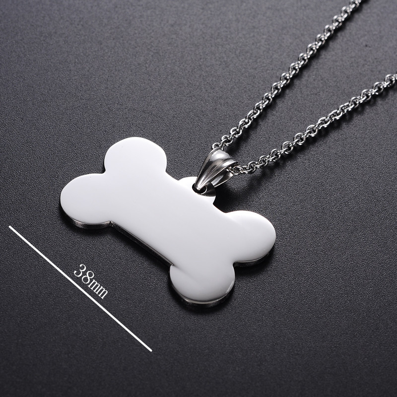Yiwu Meise Low Price Stainless Steel Bone Shaped Dog Sublimation Blank Metal Dog Tag
