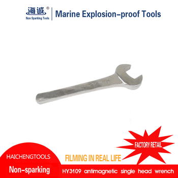Non sparking striking open wrench