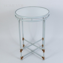 Retro High Quality Living Room Furniture White Metal Coffee side Table