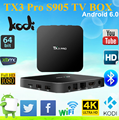 Tx3 Pro Amlogic S905x Quad Core Cpu Android 6.0 Smart Tvbox With Kodi 16.1 2017 cheap selling