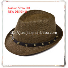 Fashion straw hat,panama hat for men