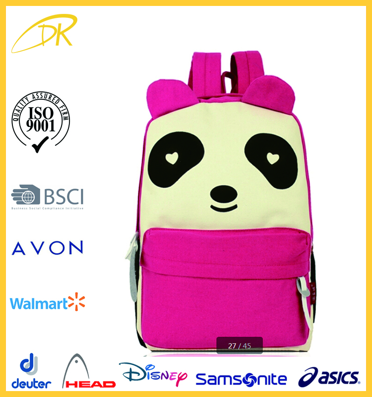 2015 China stylish cat bagpack, cheap stylish cute backpack for high school girls