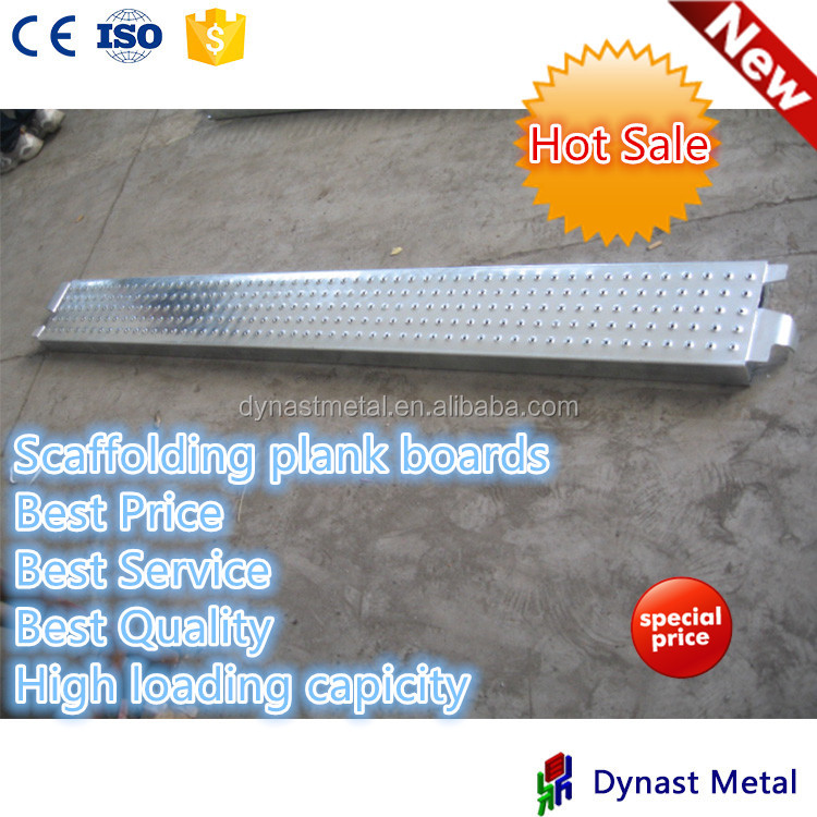 USA standard ISO used for types of cuplock scaffolding 9 inch width Q235 hot dip galvanized scaffolding steel plank walk board