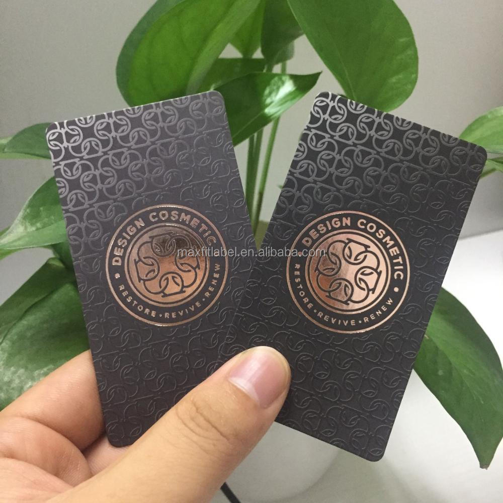 Custom high quality copper foil business cards with 350gsm paper