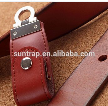 wholesale leather usb flash drive for key chain pendrives 8gb 32gb commercial memory stick 4gb 16gb gift usb